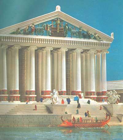 Templo de artemisa en feso las siete maravillas del for Jardines del olimpo