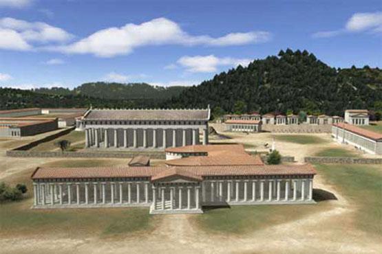 Olimpia maqueta del santuario guia tur stica de grecia for Gimnasio zeus
